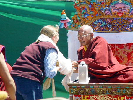 Helen Cawley and HH Tenzin Zangbu