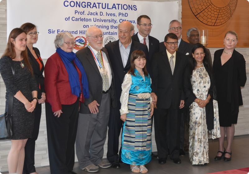 Guests of honor at presentation of Sir Edmund Hillary Mountain Legacy Medal