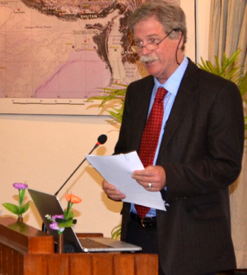 Dr. David Molden, Director General of the International Center for Integrated Mountain Development